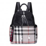Leisure Multi-function School Bag Plaid Oxford School Backpack