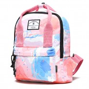Creative Rainbow Gradient Graffiti Waterproof Multifunction Handbag Backpack