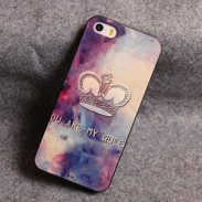 Star Crown Flower Relief Silicone Soft Iphone Cases For 5/5S