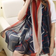 Irregular Shapes Shawl Scarf Dual Women Beach Towel Sunscreen Scarf