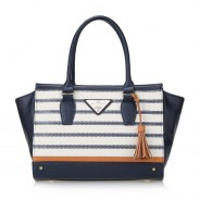 Fashion Simple Stripe New Women's Handbag Messenger Bag Shoulder Bag