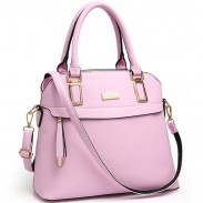 Fashion PU Shell Shape Zipper Colorful Women Handbag Leisure Shoulder Bag
