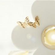 Cute Butterfly Earrings Animal Hollow Out Silver Earring Studs