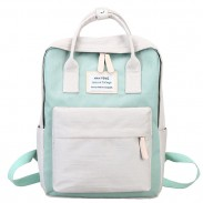 New High School Students Multi-function Campus Shoulder Bag College Canvas Backpack
