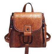 Elegant Magic Multi-function Leather Small Messenger Bag Shoulder Bag Mini Backpack
