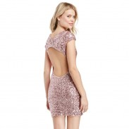 Sexy Shining All-sequined Halter Package Hip Dress