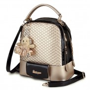 New Glossy Quilted Geometric Girls Backpacks