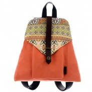 Folk Style Geometry Trapezoidal School Bag Travel Backpack Rucksack