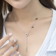 Romantic Gift For Her Love Pendant Chain Titanium Necklace