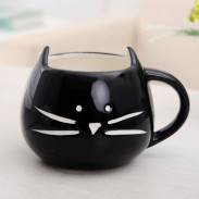 Cute Cat Cartoon Couple Ceramic Mug/Cup