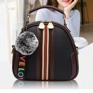 Unique Design Soft PU Stripe Women Bag Small Shoulder Bag
