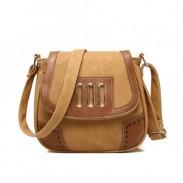 Vintage Mixed Color Saddle Ladies Shoulder Bag Messenger Bag