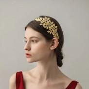 Unique Leaf Headband Leaves Hoop Hair Clip Alloy Wedding Hair Accessories