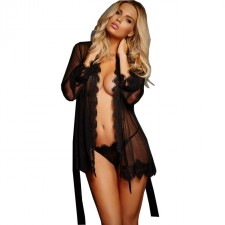 Sexy Robe See Through Kimono Chemise Sleepwear Women's Dress Lingerie