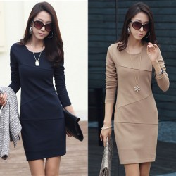 High Quality Long Sleeve OL Dresses
