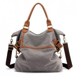 Retro Large-Capacity Commuter Casual Multi-function Shoulder Bag Women's Canvas Handbags