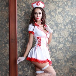 Sexy Cosplay Performance Nightdress Uniform Temptation Nurse Costume Women's Lingerie