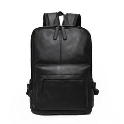 Retro Backpack For Teen Waterproof School Bag PU Laptop Bag Student Backpack Square Travel Rucksack