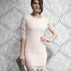 Unique Light  Pink Slim Lace Dress &Party Dress