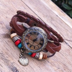 Original Wrap Rope Leather Bracelet Watch