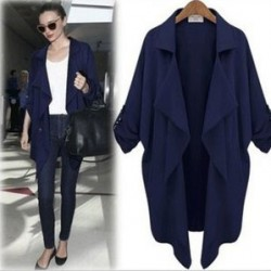 Slim Loose Big Lapel Cardigan Windbreaker/Jacket