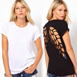 Special Angel Wings Back Short Sleeve T-shirt