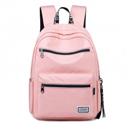 Fresh Double Zippers Water Resistant Plus Size Laptop Bag Student Backpack Oxford Junior School Bag Backpack
