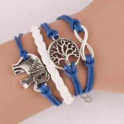 Cute Elephant Life Tree Infinity Bracelet