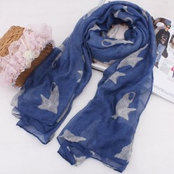 Cute Small Cats Print Thin Voile Scarf