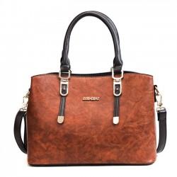 Fashion British Style Lady Handbag PU Shoulder Bag