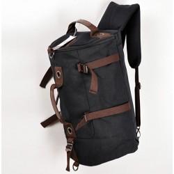 Fashion Large Capacity Cylindrical Canvas Travel Backpacks