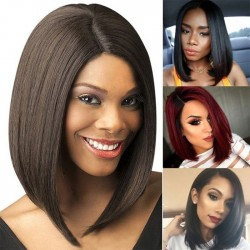 Fashion Middle Separate Middle-Long Straight Hair BoBo Hair Women Lace Hair Wig