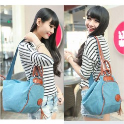 Multifunction Leisure Canvas Tassel Pendant Shoulder Bag Dumplings Backpack