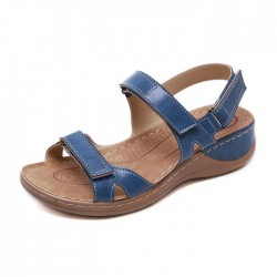 Retro Non-slip Beach Stitching Flats Summer Shoes Women's Sandals