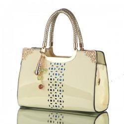 Elegant Candy Color Floral Cutout Handbags