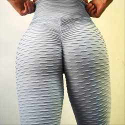 Sexy Yoga Pants Folds Style Sports Buttocks Jacquard Slim Leggings