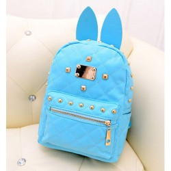 Vintage Punk Style  Bunny Ears Rivet Backpack