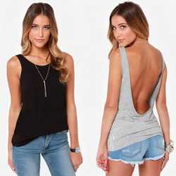 Sexy Lady Back Deep V T-shirt