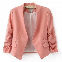 Sweet Candy Colors Bubble Sleeve Short Suits Coats