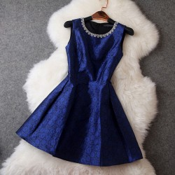 Retro Elegant Beaded Collar Prince Dress/Party Dress