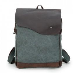 Retro Square Zipper Large Capacity Satchel Canvas School Bag Travel Backpack
