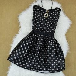 Crown Pattern Princess Sleeveless Dress