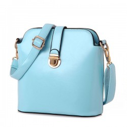 Candy Color Buckle Leather Shoulder Bags Messenger Bags