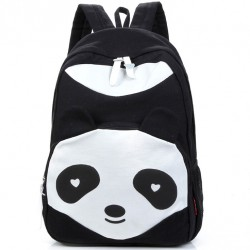 Cartoon Cute Panda School Rucksack Animal College Canvas Backpack