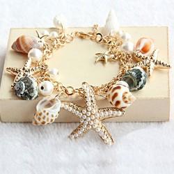 Conch Starfish Summer Beach Bracelet