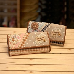 Sweet Floral Polka-dot Print Lace Wallet