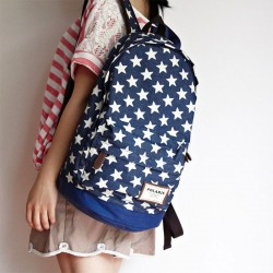 Cute Star Print Denim Backpacks