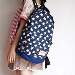 Cute Star Print Denim Backpacks