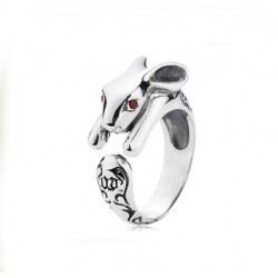 Personalized Carved Rabbit Animal Ring