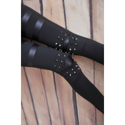 Vintage Personality Rivet Leather Leggings
